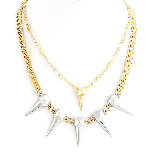 Gold/Silver Spike Necklace