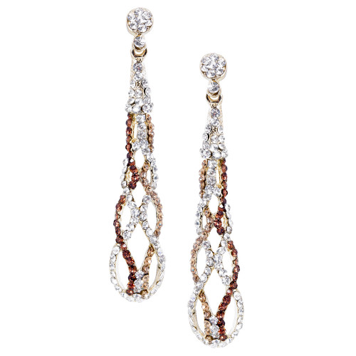 Pave Helix Earring Gold
