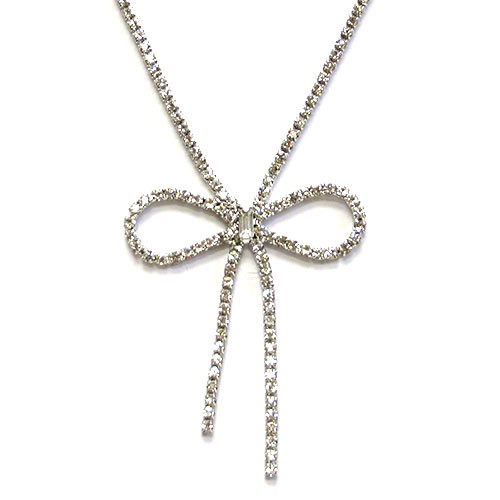 C.Z. Bow Necklace