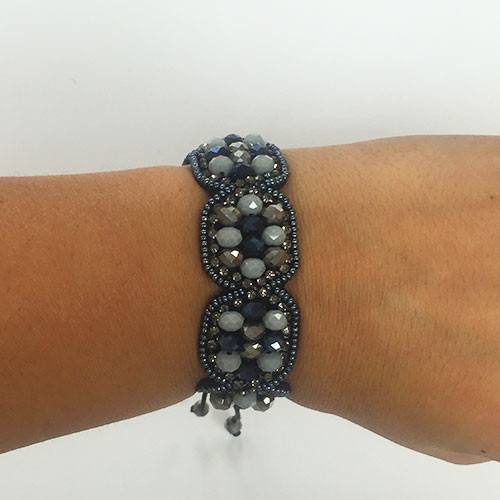 Shades of Gray Boho Bracelet