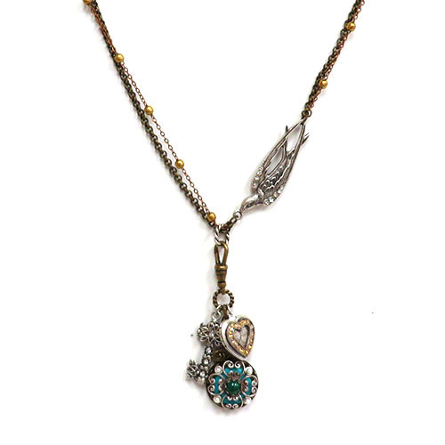 Three Piece Locket Dangle Necklace