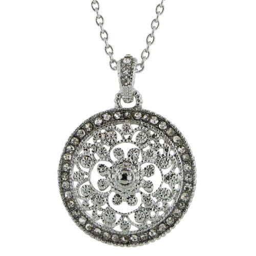 Filigree Circle Necklace