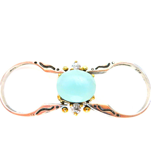 Reversible High-Set Gemstone Rings CH,AMY