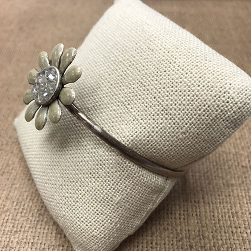 Soft Neutral Daisy Bangle