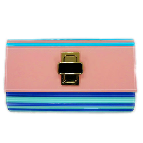 Sondra Robert's Turn-Lock Lucite Pastel Clutch