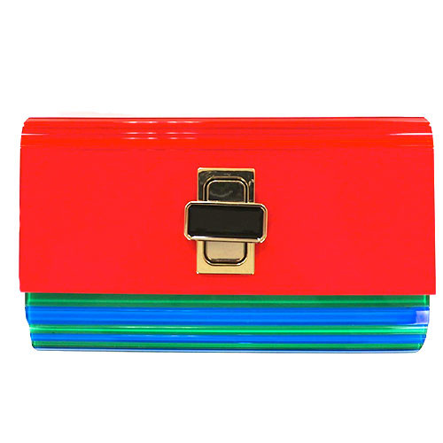 Sondra Robert's Turn-Lock Lucite Clutch