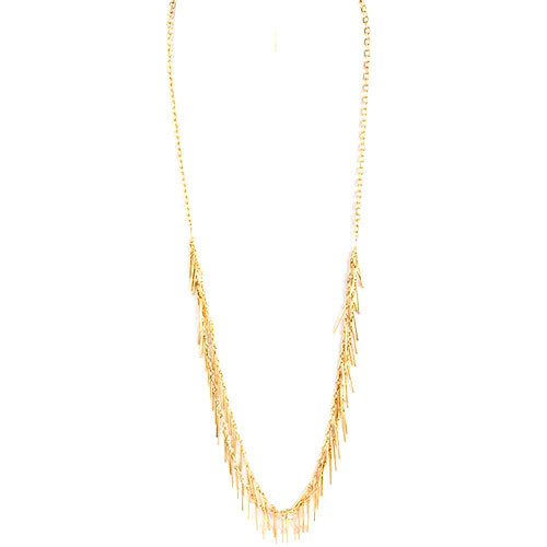 "40"" Slinky Fringe Chain Necklace"