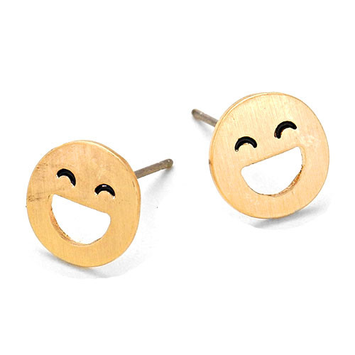 Smiley Emoji Studs