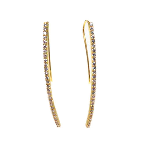 Diamond Bar Earring Gold