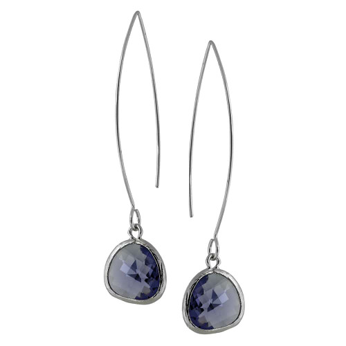 Purple Plum Crystal Dangle