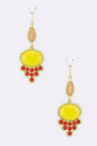 Yellow Oval Dangles