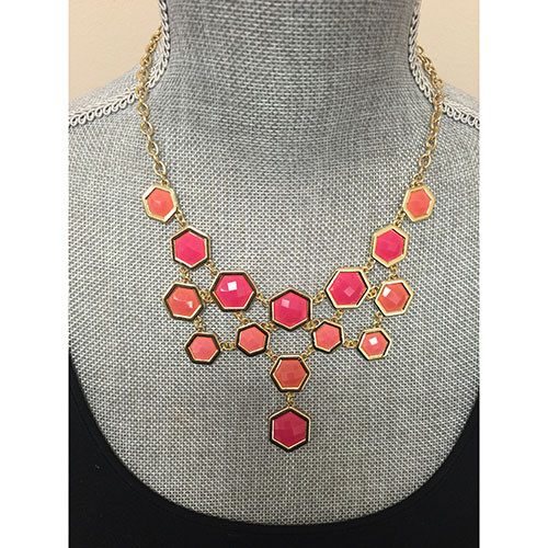 Pink Sorority Girl Chic Necklace
