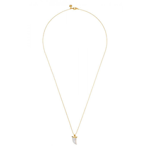 """St. Barth's Mother-of """"€œPearl Horn Long Necklace"""