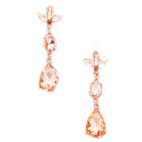 Elegant Rose Gold Dangle Earrings