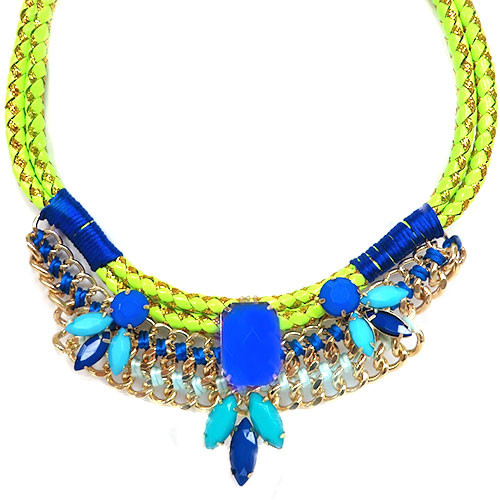 Zoe's Cobalt and Yellow Corded Statement