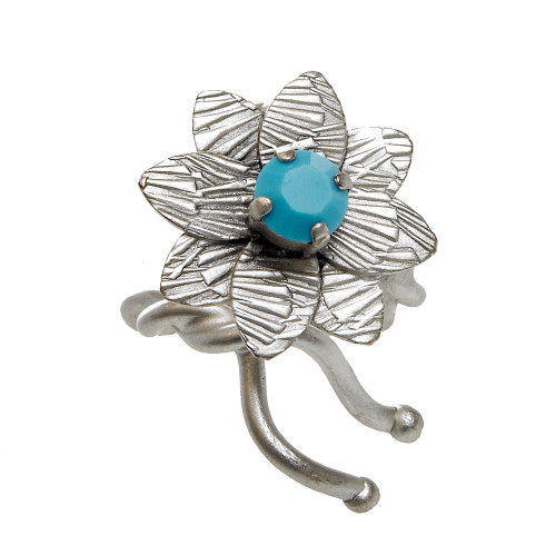 Turquoise Center Dahlia Ring