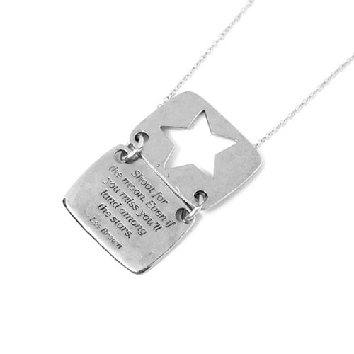 Silver Love Note Star Shaped Necklace