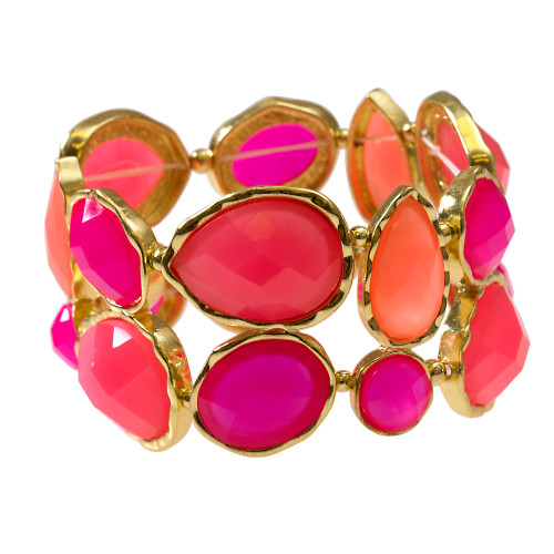Pink and Coral Bauble Bracelet