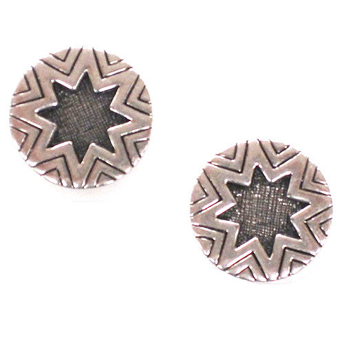 House Of Harlow Engraved Sunburst Studs S