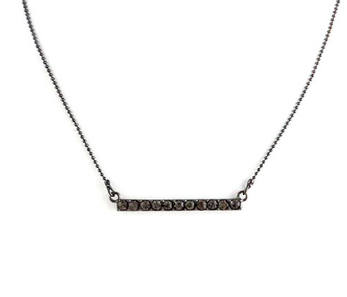 Straight and Narrow Single Bar Necklace