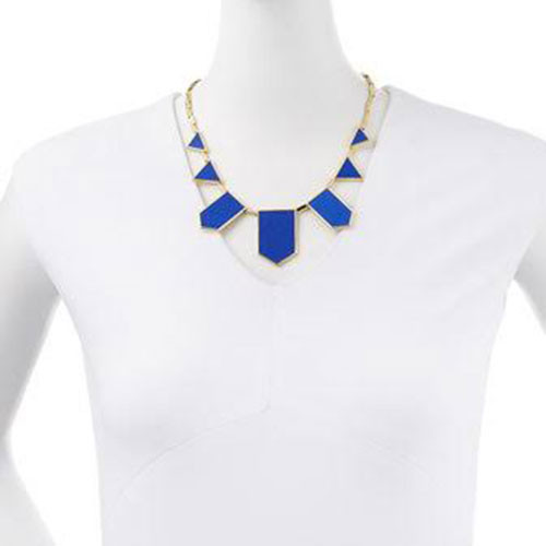 House of Harlow Blue Resin Seven Station Necklace