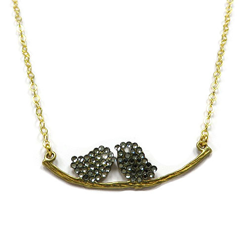 Lil' Lovebirds Necklace Black Diamond