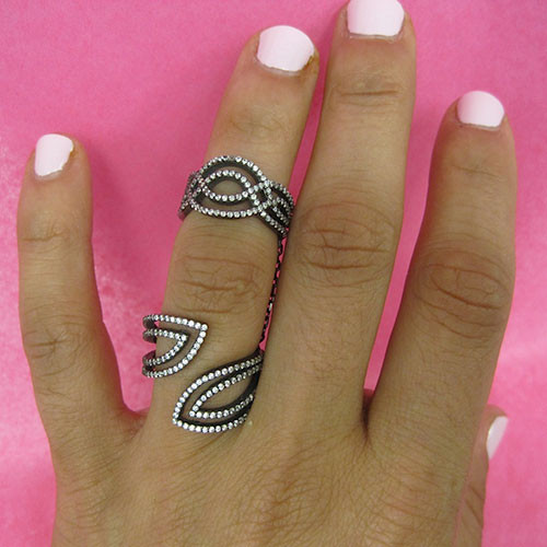 Azaara's On the Edge Double Ring Design