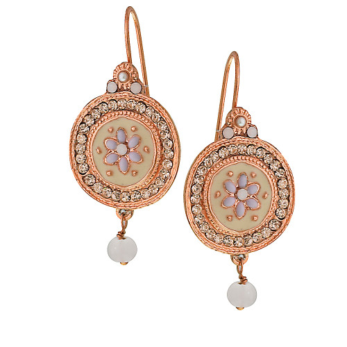 Parisian Rose Gold Medallion Earrings