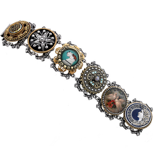Vintage Masterpiece Button Bracelet