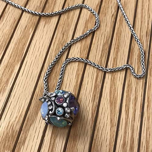 Larado's Jeweled Crystal Ball Necklace