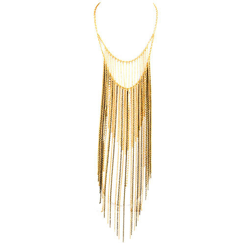 Ombre Faded Long Fringe Necklace