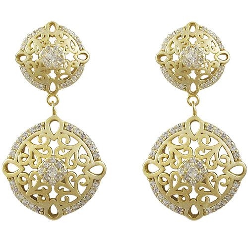 Lavish Gold Double Filigree Earring
