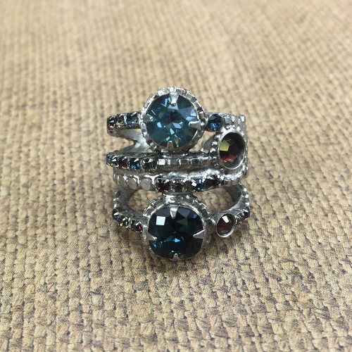 Sorrelli Multi-Row Layered Look Ring