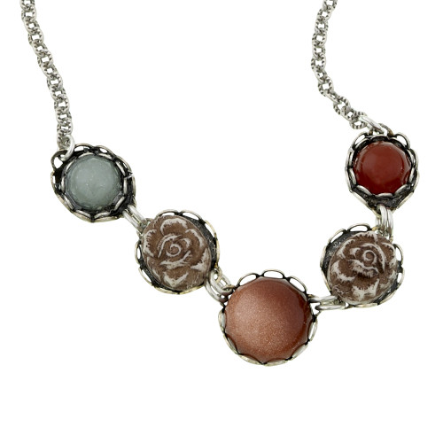 Stones and Roses Necklace