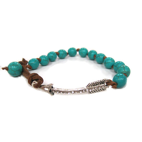 Antiqued Arrow and Turquoise Bracelet 1