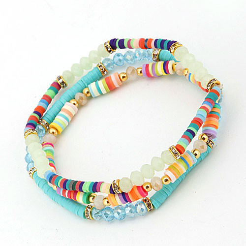 Festive Arm Candy Stretch Bracelet Trio