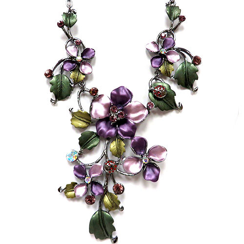 Enamel Fantasy Vine Necklace 1