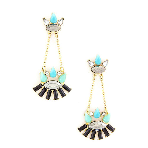 Light Blue and Black Heritage Dangles