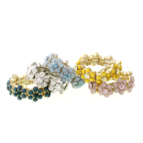 Stretchable Flower Rings