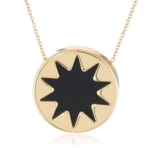 House of Harlow's Mini Black Leather Starburst