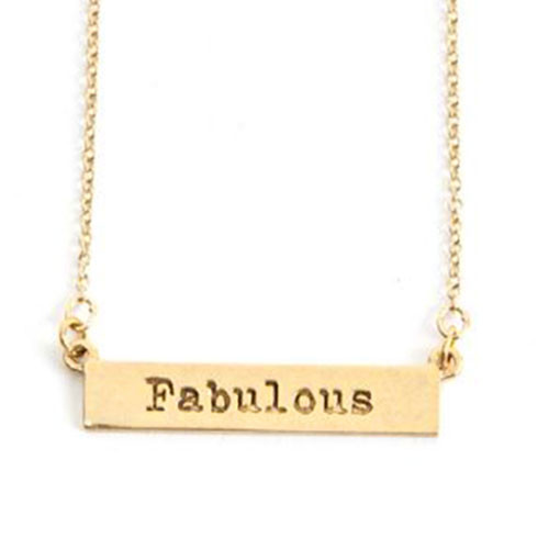 Our FABULOUS gold bar necklace