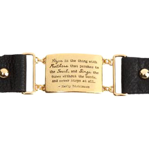 Emily Dickinson Quote Bracelet