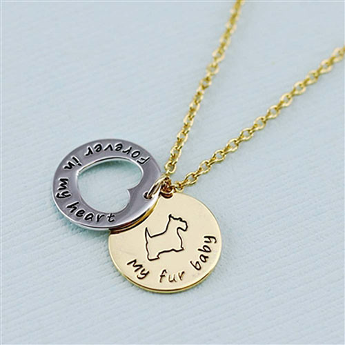 "Terrier ""Fur Baby"" Forever in Our Hearts Necklaces"