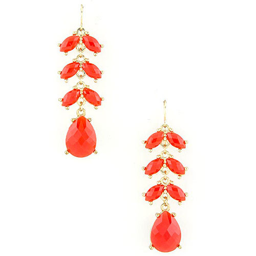 Red Petals Earring