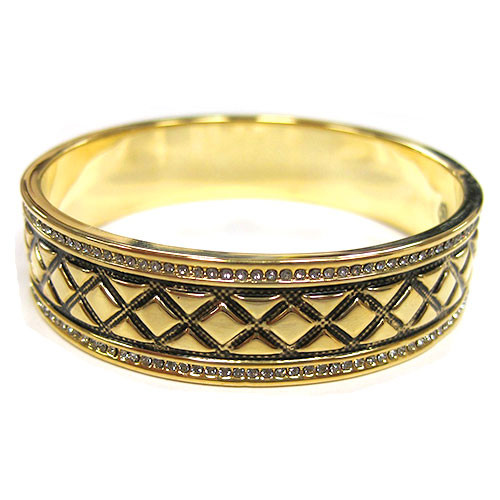 House of Harlow 1960 Gold Aztec Bangle