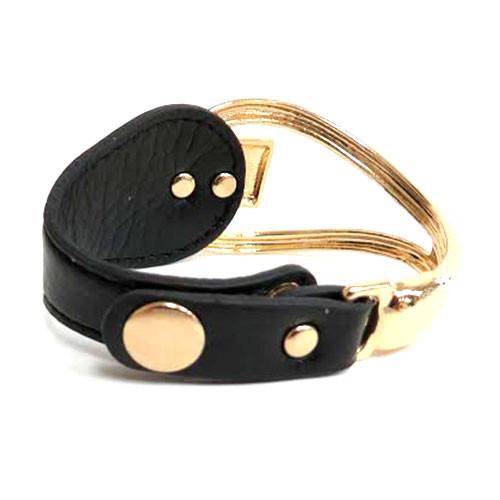 Looped Link Leather Bracelet