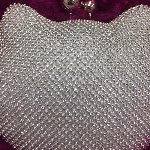 Meow! Silver Crystal Cat Bag