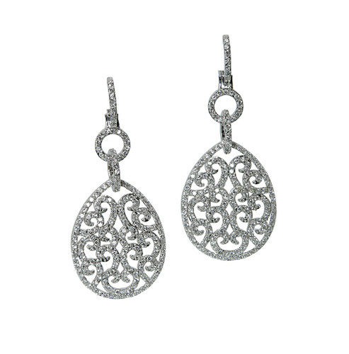 Delicate Filigree Teardrop Dangle