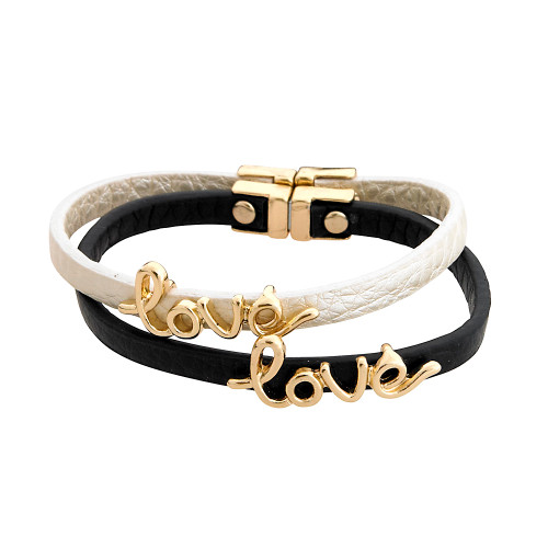 Love and Leather Bracelet