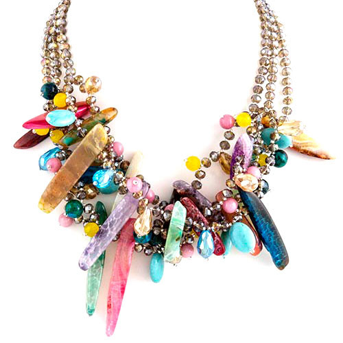 Mixed Layer Shells Necklace